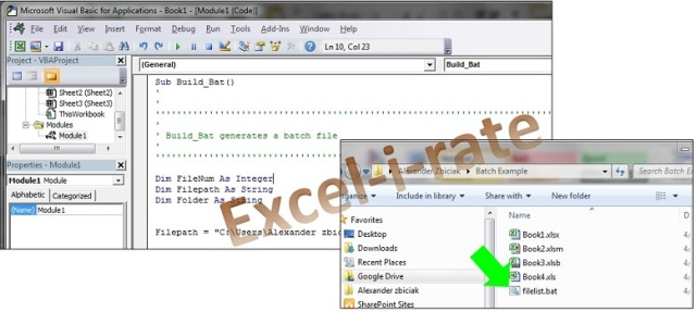 VBA To publish a Batch File from MS Excel | Excel-i-rate